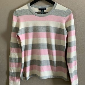 Banana Republic silk cashmere striped sweater🌸